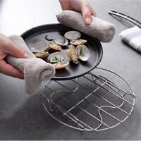 Stainless Steel Round Pot Steamer Rack Stand w/ Handles Kitchen Cookware H