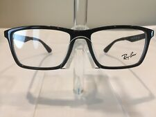 RayBan RB7056 Men's Plastic Eyeglass Frame 2000 Black - NEW! Authentic!