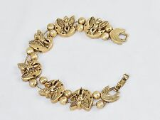 Charm Bracelet, Crescent Moon Angels ~ TOFA Classic Slider, Gold Toned #5430600
