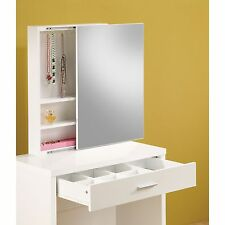 White Modern Vanity Set with Stool Makeup Dressing Table