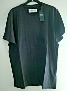 MENS ABERCROMBIE & FITCH LARGE CHARCOAL T-SHIRT SOFT TEE CREW NECK NEW