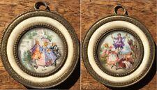 Gorgeous, Pair of Miniatures. Galante Scene (XIX)