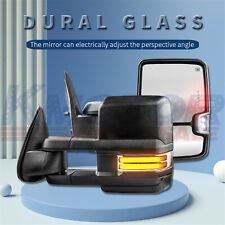 New listing Tow Mirrors 2Pc Power Heated Dynamic Signal For Gmc Sierra 1500 2500 3500 99-02
