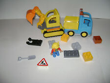LEGO Duplo 10812 Town Truck & Tracked Excavator Minifigure Construction