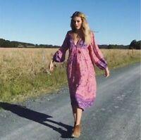 Ladies BOHO Flower Bib Mid Mini DRESS 70s Hippie INDIA ETHNIC Festival Retro hot
