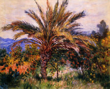 Oil painting Claude Monet - A Palm Tree at Bordighera spring landscape