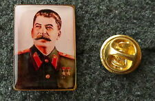RUSSIAN  SOVIET CCCP    PIN BADGE STALIN
