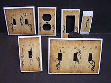 LIGHT SWITCH COVER PLATE OR OUTLET SOUTHWEST KOKOPELLI  BROWN SHADES