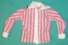 "Red & White Striped 70s Style Long Sleeve Shirt for 12"" GI Joe GIS06"