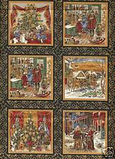 Charles Dickens Christmas Cotton Quilting Fabric 55 Small Panels Fabric Freedom
