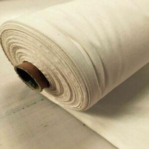 "58"" 100% Cotton (Calico) Plain Natural Oatmeal Colour Roll Cotton Fabr"
