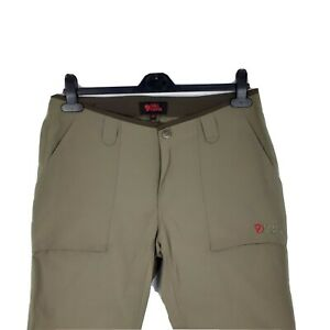 Womens Fjallraven Olive Green Outdoor Trouser Pants Size 40 W30 L34