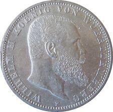 J176 5 Mark WÜRTTEMBERG Wilhelm 2   1913 F in VZ-STG  669077