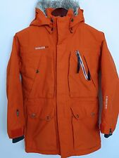 FB974 Women  Didriksons Storm System Orange Waterproof Jacket Size XS