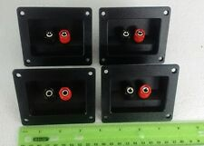 4X  Audio Speaker screw Binding Post RECTANGULAR  Dual Terminal Connector Board