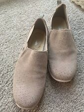 Ladies Clarks Brown Suede Slip On Shoes Size 4