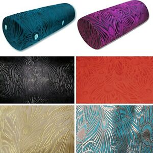 Long Tube Bolster Cover*Chinese Rayon Brocade Throw Neck Roll Custom Size*BN7