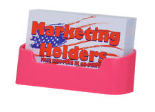 Deflecto Pink Business Card Holder Display Stand Counter Table Plastic