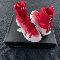 Under Armour UA Highlight RM Jr Boys Football Cleats Shoes Size 4Y Red White