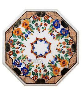"""Beautiful Marble Coffee Table Top Mosaic Art Patio Table from Heritage Art 24"""""""
