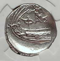 PHASELIS in LYCIA 400BC Silver State GALLEY CICADA NIKE Greek Coin NGC i63345
