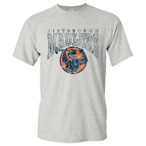 USFL Pittsburgh Maulers UGP Classics Basic Cotton T-Shirt - Ash