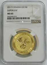 2017 GOLD CANADA 1 1/2 OZ MEGALEAF $150 MAPLE LEAF COIN NGC MINT STATE 65