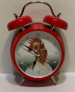 Old-Fashioned Rooster Alarm Clock by Wacky Wakers - Country Farmhouse Décor