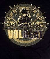 VOLBEAT cd lgo GANGSTER FLAMES CIRCLE Official SHIRT LAST XL New OOP