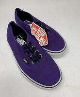 VANS Off The Wall  Purple Canvas Sneakers Unisex Men (US) 4 / Womens (US) 5.5
