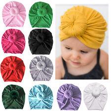 Kids Baby Solid Headwrap Newborn Infant Turban Knot Beanie Hat Winter India Cap