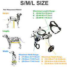 Aluminum Cart Pet/Dog Wheelchair For Handicapped Small Cat/Doggie /Puppy L/M/S