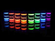 UV Body Paint Neon Glow Kit Set of 8 Bottles .75 oz. Each - Blacklight Reactive