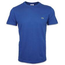 Magliette da uomo blu marca Lacoste girocollo