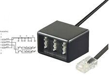 Wentronic Telefon Adapter Rj45 Stecker auf TAE Buchsen NFN schwarz