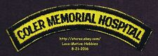 LMH PATCH Badge  COLER MEMORIAL HOSPITAL  Goldwater Specialty NYC Nursing Health