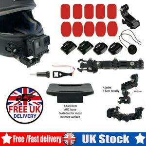 Motorcycle Helmet Chin Mount Holder For XiaoYi GoPro Hero6/5/4 Action Camera UK