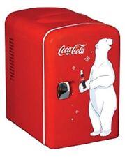 Coca Cola KWC-4 6-Can Personal Mini 12-V Car and120-V Home Fridge 59586509865