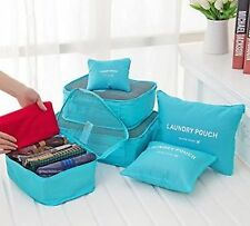 6 Pcs Waterproof Travel Laundry Pouch Cosmetics Make-up Bags