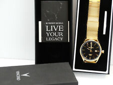 Men's Vincero Kairos Black Gold Mesh Band Watch Bla-GolM-K14 New
