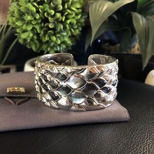 NWT $2695 John Hardy Naga Mother Of Pearl Dragon Scale Cuff Bracelet 925 Silver