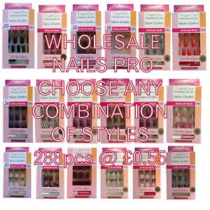 Bulk False Nails Printed Nail Tips 288pcs 55p 144pcs 65p 24pcs 85p your choice