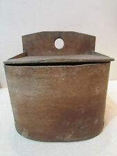 ancienne grande boite a sel en bois courbé epoque 1900 art populaire