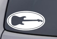 GUITAR Oval Vinyl Decal Sticker Car Window Wall Bumper Laptop Electric Acoustic