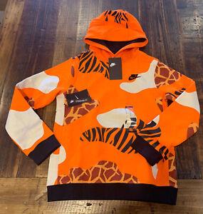 Nike Kids Animal Print Hoodie Size Large L Rare Safari