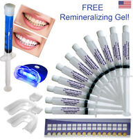 Teeth Whitening Gel Kit 44% Professional Bleaching Whitener Trays +1 White Light