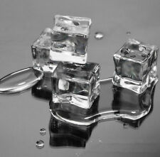 50pcs 2CM Acrylic Ice Cubes Wedding Party Display Artificial Crystal Clear Deco