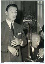 M. Albin Chalandon, M. Françis Pecresse  Vintage silver print Tirage argentiqu