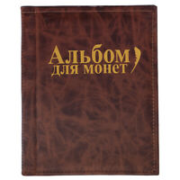 Porte-album 250 pièces 10 pages pour collection de pièces de monnaie Money