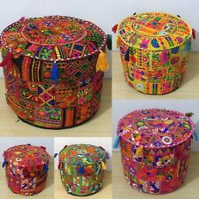 20 Pcs. Wholesale Vintage Ottoman FootStool Pouf Cover Patchwork Handmade Indian
